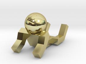 Board Game 'Tsumi Yoga' Block#13 in 18k Gold Plated Brass