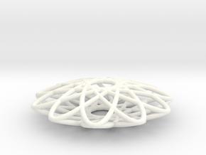 Spirograph Pendant 05  in White Processed Versatile Plastic