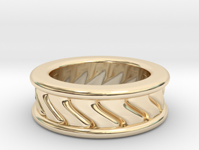 Chunky Vortex Ring in 14k Gold Plated Brass