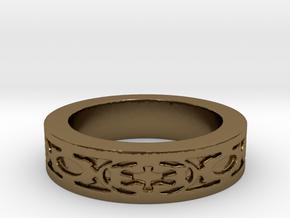 DarkSide Ring delta Size 5.5 in Polished Bronze