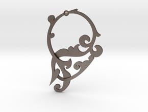 CODE SL02Z4 - EARING in Polished Bronzed Silver Steel