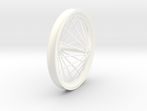 Free Flight Spoked Wheel V2 in White Strong & Flexible Polished