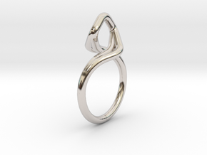 A-LINE Dancing D.03, US size 3.5, d=14,5mm in Rhodium Plated Brass: 3.5 / 45.25