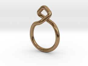Dancing D.01, Ring US size 3, d=14mm  in Natural Brass: 3 / 44