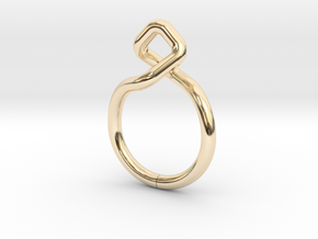 Dancing D.01, Ring US size 3, d=14mm  in 14K Yellow Gold: 3 / 44