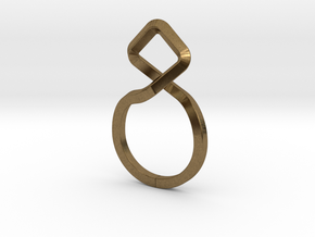 A-LINE Dancing D.011 Ring US size 3.5, d=14,5mm in Natural Bronze: 3.5 / 45.25