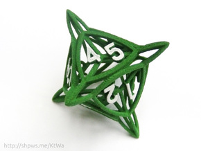 Large 'Center Arc' D8 Tarmogoyf P/T Die in Green Strong & Flexible Polished