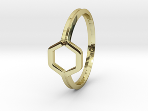 A-LINE Honey Ring H.02, US size 6, d=16,5mm  in 18k Gold Plated Brass: 6 / 51.5