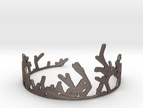 Growing Bracelet v.2 in Polished Bronzed Silver Steel