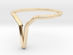 YOUNIVERSAL Y.01, US size 3.5, ring d=14,5mm in 14k Gold Plated Brass: 3.5 / 45.25