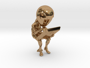 Aliens cradle in Polished Brass