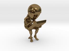 Aliens cradle in Polished Bronze
