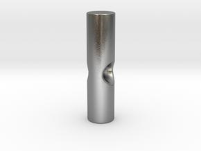 Umbrella rib tip 3mm plastic - 2.6mm metal in Natural Silver