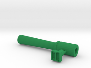 Leather stamp 2 + tool, with double lines weaving  in Green Processed Versatile Plastic
