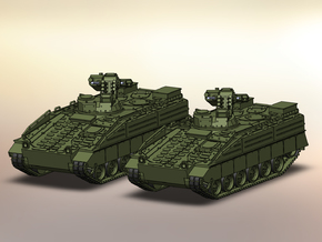 2x SzP Marder 1A5 1:160 in Smooth Fine Detail Plastic