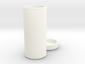 Multi-purpose Bottle with Screw On Cap in White Processed Versatile Plastic