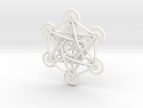 Metatron's Cube - 5cm in White Processed Versatile Plastic