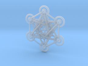 Metatron's Cube - 5cm in Smooth Fine Detail Plastic