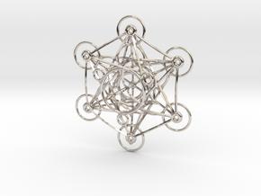 Metatron's Cube - 8cm - wStand in Platinum