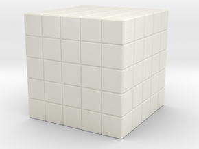 5x5x5 Full Holes in White Natural Versatile Plastic