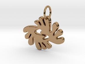 BI NKA BI (Adinkra Symbol of Peace and Harmony) in Polished Brass