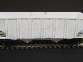 N Scale 55 Ton U Channel Hopper  in Smooth Fine Detail Plastic