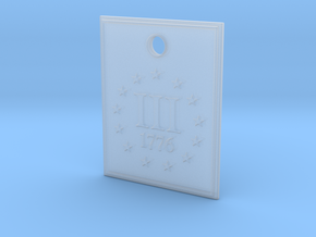 1776 III% Pendant in Smooth Fine Detail Plastic