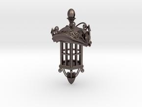 Lanterna Roma in Polished Bronzed Silver Steel