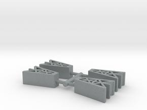 Game Piece, Oil Derricks, 4-set in Polished Metallic Plastic