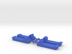 Game Piece, Cargo Ships 4-set in Blue Processed Versatile Plastic