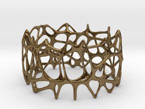 voronoi doubleshell bracelet in Polished Bronze