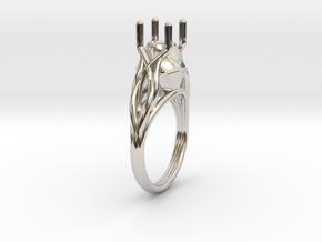Flowering Vine Ring in Platinum