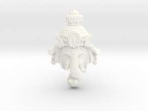 "Ganesha -""Wishing Elephant"" The god of wealth in White Processed Versatile Plastic"