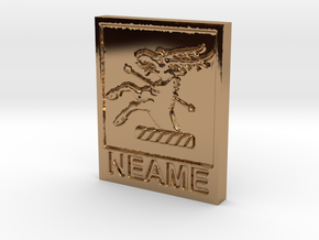 Neame Family Keychain in Polished Brass