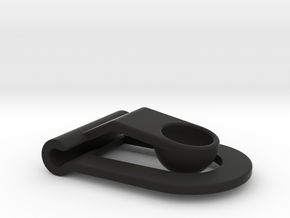 Headphone cable clip in Black Strong & Flexible