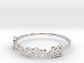 Mom Ring Size 9.5 in Platinum