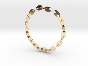 Large Welded Chain Bangle in 14K Yellow Gold