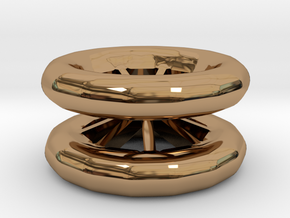 Double Wheel Export 3 in Polished Brass
