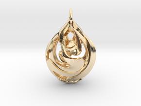 Teardrop Pendant in 14K Yellow Gold