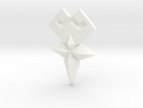 KH Cosplay Wayfinder Belt Buckle Medium size in White Processed Versatile Plastic