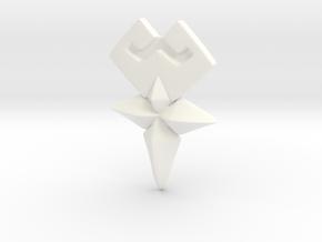 Cosplay Wayfinder Belt Buckle SMALLER:Aqua Ventus in White Processed Versatile Plastic