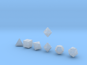 QUADRANT Sharp Outies dice in Smooth Fine Detail Plastic