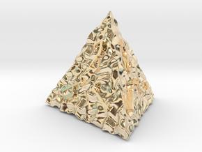 ELDRITCH ROUGH d4 in 14k Gold Plated Brass