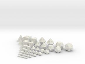 World's Smallest Dice!! in White Natural Versatile Plastic