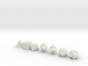 World's Smallest Dice!! Only The Smallest in White Natural Versatile Plastic