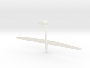 Sailplane with gear in White Strong & Flexible Polished
