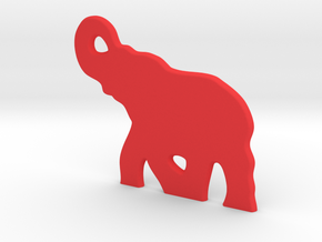 Elephant in Red Strong & Flexible Polished