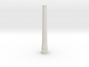 NUch01 Factory chimney in White Natural Versatile Plastic