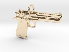 .50 Caliber Desert Eagle Pendant in 14K Yellow Gold
