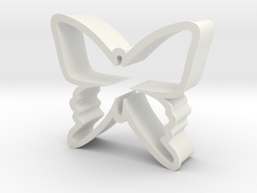 Butterfy Cookie Cutter in White Natural Versatile Plastic
